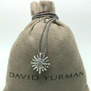 David Yurman 17mm Small Starburst Necklace